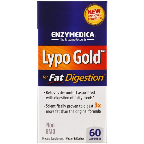 Lypo Gold, For Fat Digestion, 60 Capsules
