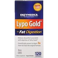 Enzymedica, 리포 골드, 지방 소화 최적화, 120 캡슐