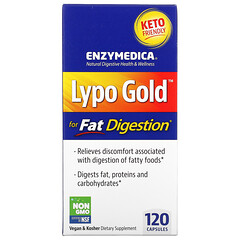 Enzymedica, Lypo Gold,優化脂肪消化,120 粒膠囊