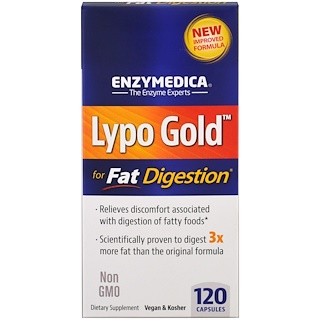Enzymedica, Lypo Gold, For Fat Digestion, 120 Capsules