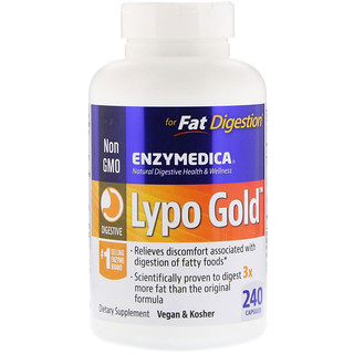 Enzymedica, Lypo Gold, 240 Capsules