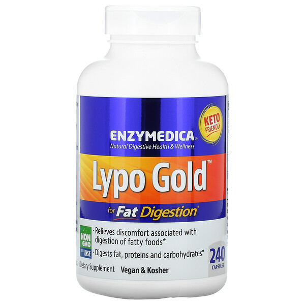 Lypo Gold, For Fat Digestion, 240 Capsules