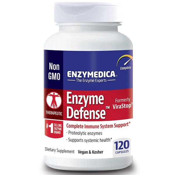 Enzymedica, Enzyme Defense (Formerly ViraStop), 120 Capsules