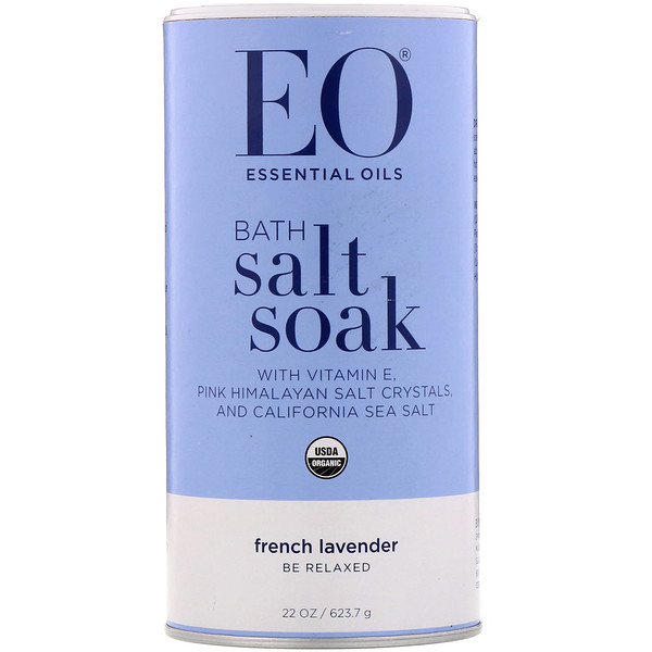 EO Products, Bath Salt & Soak, French Lavender, 22 oz (623.7 g) (Discontinued Item)