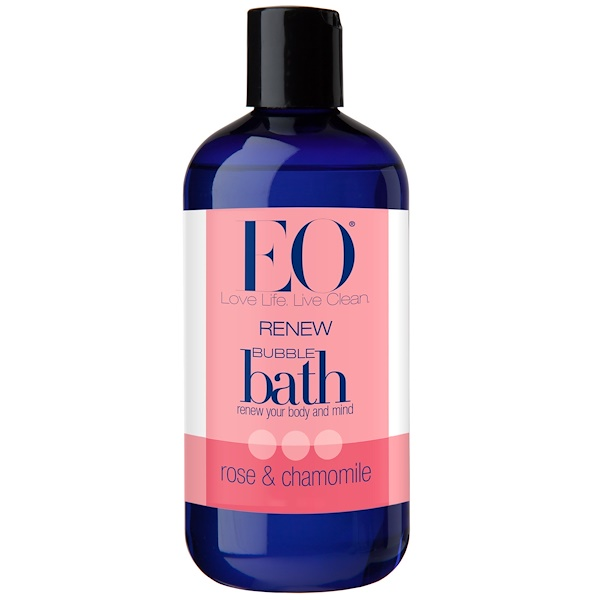 EO Products, ReNew, Bubble Bath, Rose & Chamomile, 12 fl oz (355 ml) (Discontinued Item)