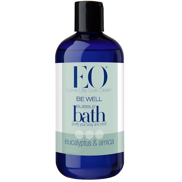 EO Products, Be Well, Bubble Bath, Eucalyptus & Arnica, 12 fl oz (355 ml) (Discontinued Item)