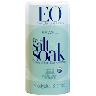 EO Products, Be Well Bath Salt & Soak, Eucalyptus & Arnica, 22 oz (623.7 g)