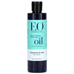 EO Products, 含荷荷巴、葡萄柚和薄荷的身體油,8 液量盎司(237 毫升)