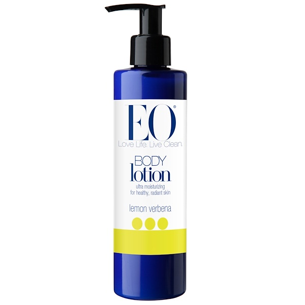 EO Products, Body Lotion, Lemon Verbena, 8 fl oz (236 ml) (Discontinued Item)