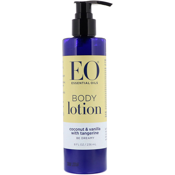 EO Products, Body Lotion, Coconut & Vanilla with Tangerine, 8 fl oz (236 ml) (Discontinued Item)
