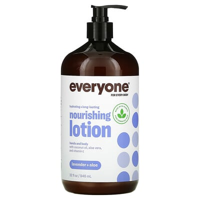 Everyone Lotion, 3 in 1, Lavender + Aloe, 32 fl oz (946 ml)