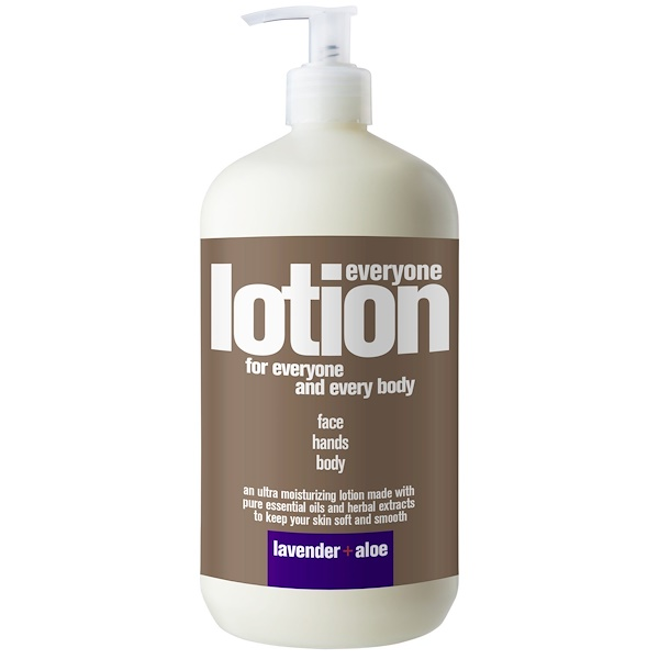 EO Products, Everyone Lotion for Everyone and Every Body, Lavender + Aloe, 32 fl oz (960 ml)