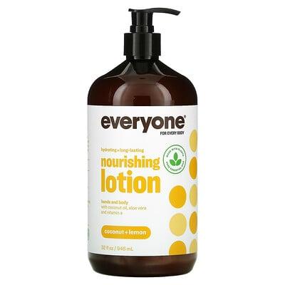 Everyone Lotion, лосьон 3в1, кокос и лимон, 946мл (32жидк.унции)