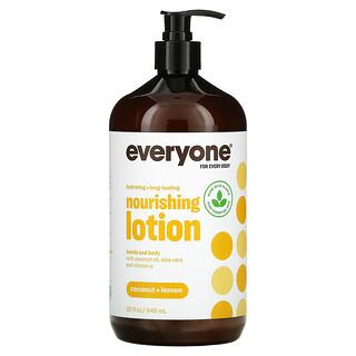 Everyone, Nourishing Lotion, Coconut + Lemon, 32 fl oz (946 ml)