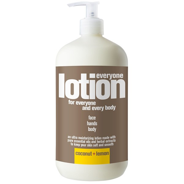 EO Products, Everyone Lotion, 3 in 1, Coconut + Lemon, 32 fl oz (946 ml) (Discontinued Item)