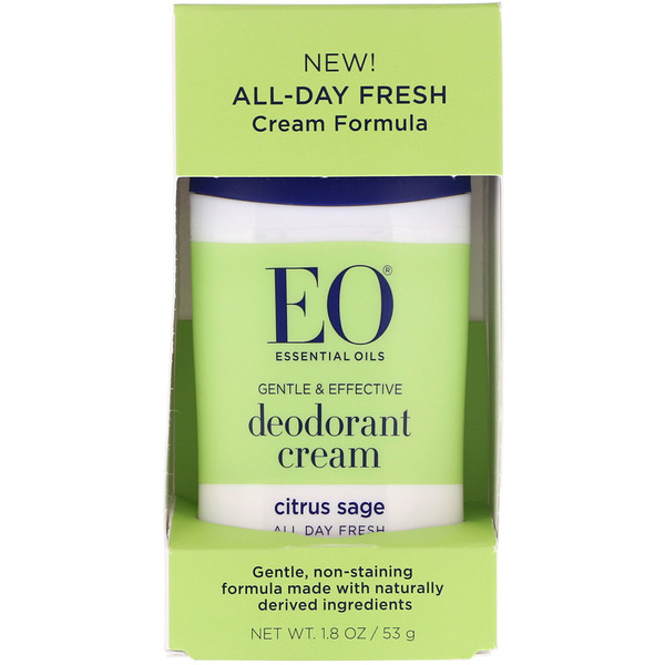EO Products, Creme Desodorante, Salva e Citrus, 1,8 oz (53 g)