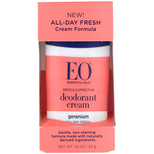 EO Products, Desodorante en crema, geranio, 53 g (1,8 oz) (Discontinued Item)