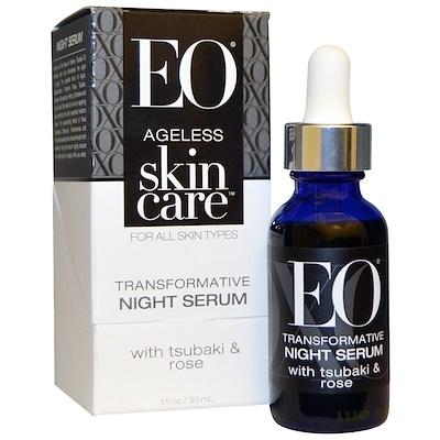 EO Products Ageless Skin Care, Transformative Night Serum, 1 fl oz (30 ml)