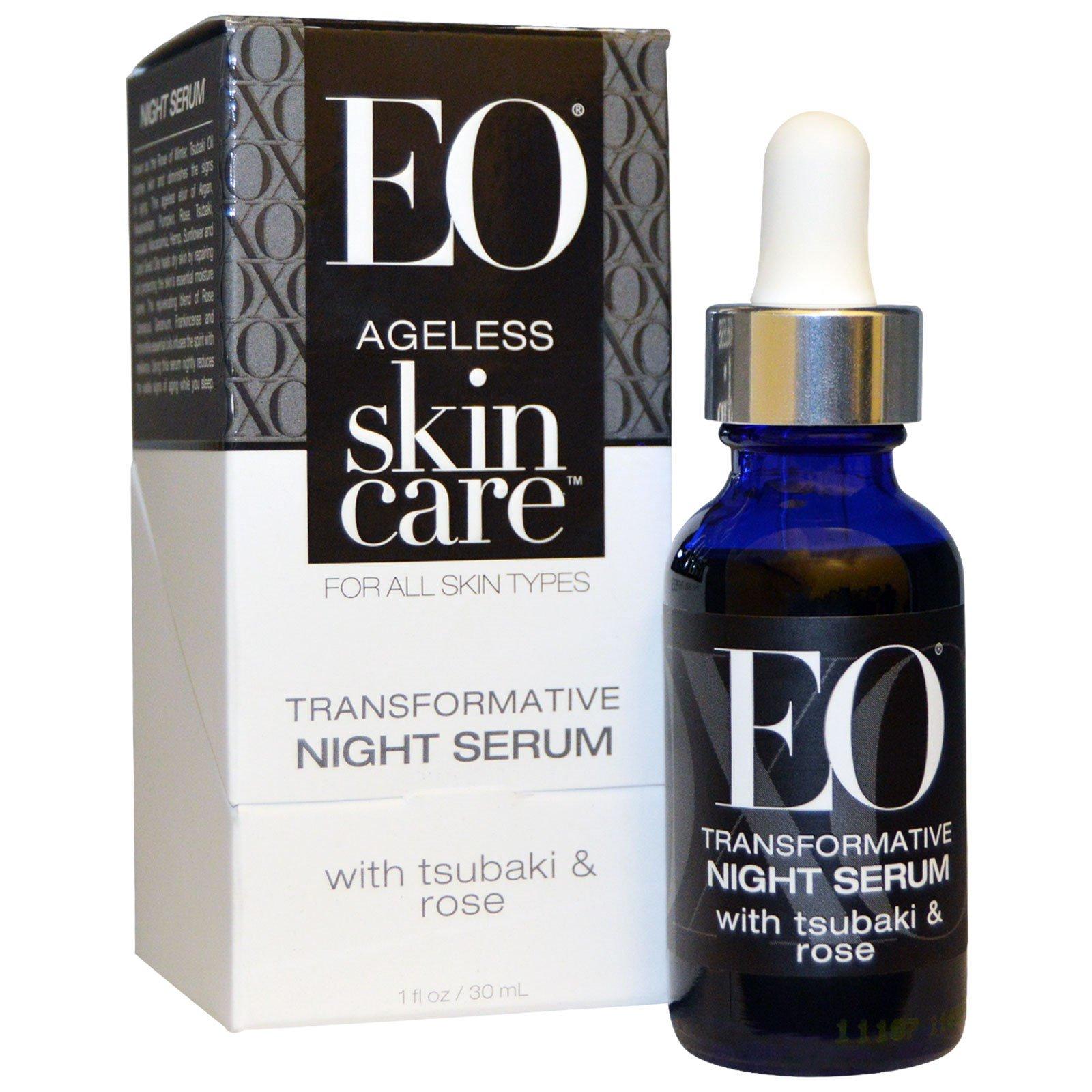 EO Products, Антивозрастной Уход за Кожей, Трансформирующая ночная сыворотка, 1 унция (30 мл)