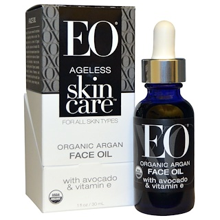 EO Products, Ageless Skin Care, Organic Argan Face Oil, 1 fl oz (30 ml)