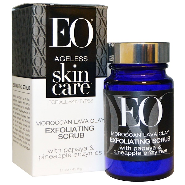 EO Products, Ageless Skin Care, Moroccan Lava Clay, Exfoliating Scrub, 1.5 oz (42.5 g) (Discontinued Item)