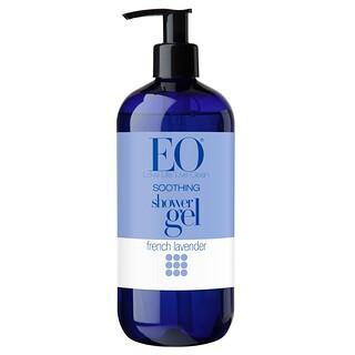 EO Products, スージングシャワージェル、 フレンチラベンダー、 16液量オンス (480 ml)