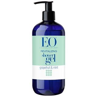 EO Products, ريتيفاليزج جل الاستحمام المنشط ، بالعنب والنعناع، 16 أوقية سائلة (473 مل)