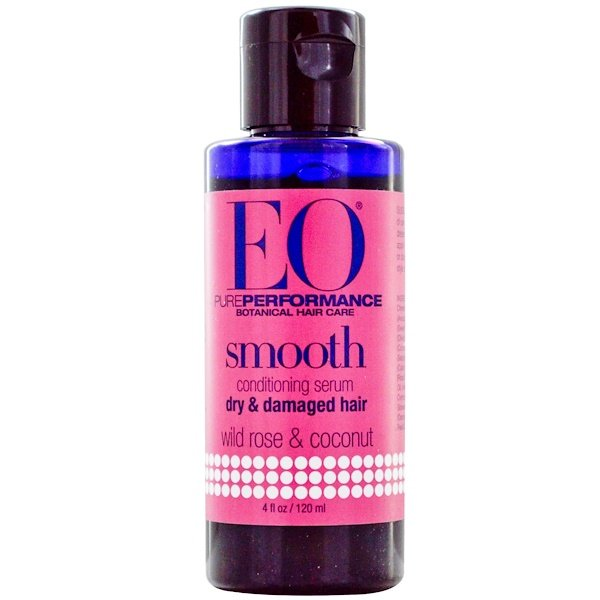 EO Products, Smooth Conditioning Serum, Wild Rose & Coconut, 4 fl oz (120 ml) (Discontinued Item)