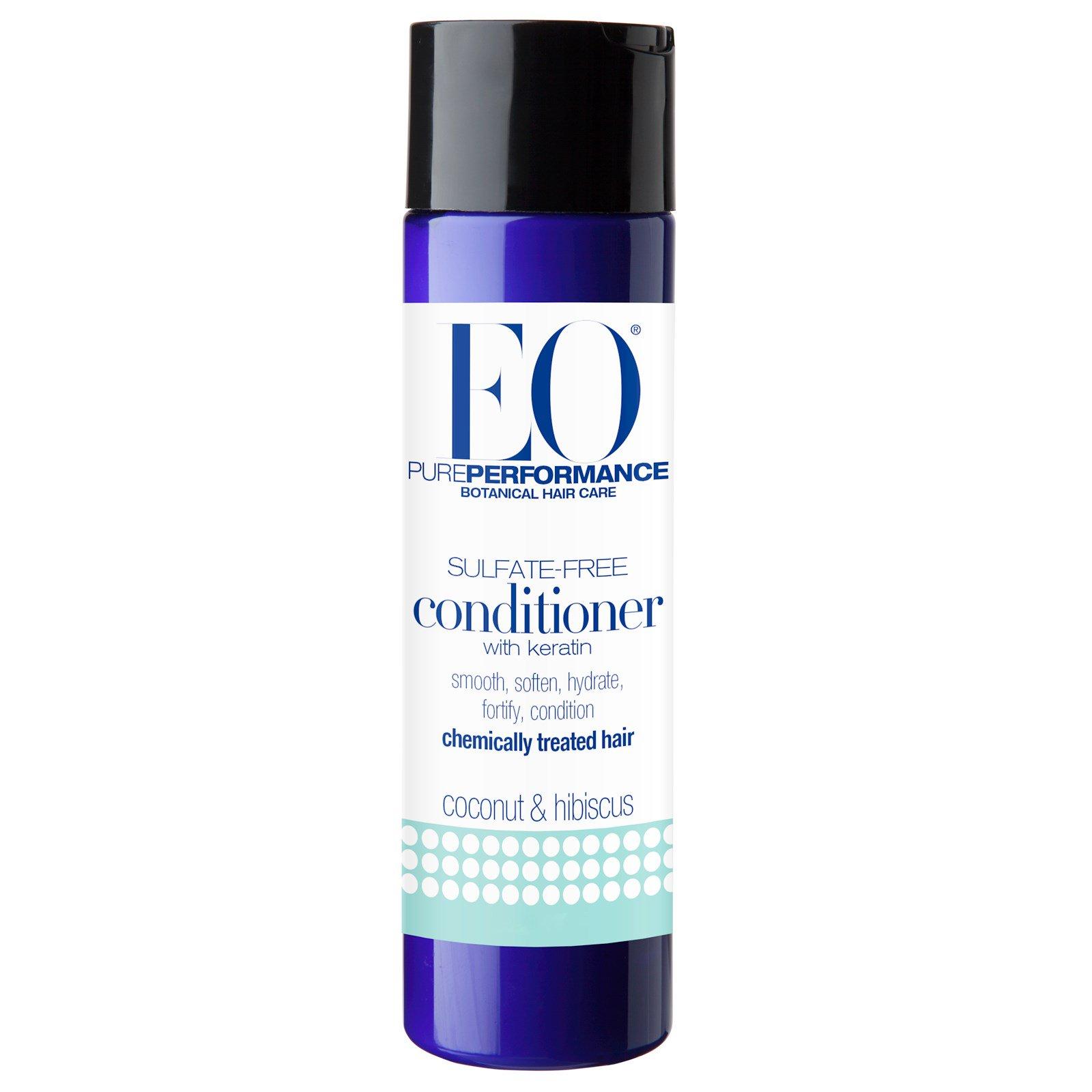 EO Products, Кондиционер с кератином, не содержит сульфатов, кокос и гибискус, 8,4 жидких унции (250 мл)
