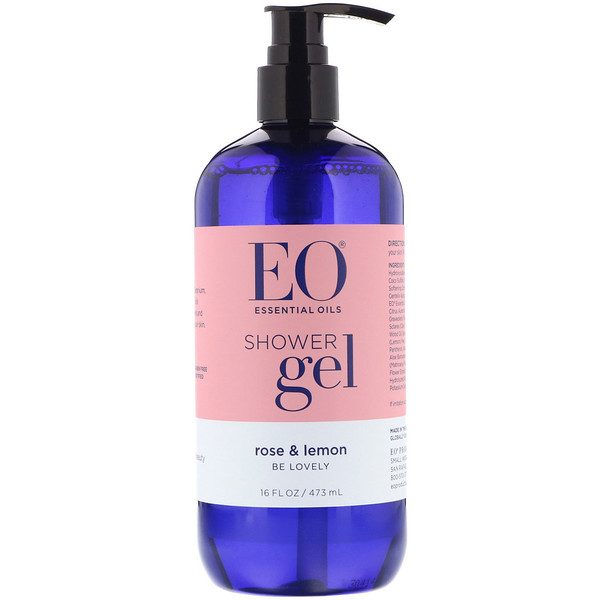EO Products, Shower Gel, Rose & Lemon, 16 fl oz (473 ml)