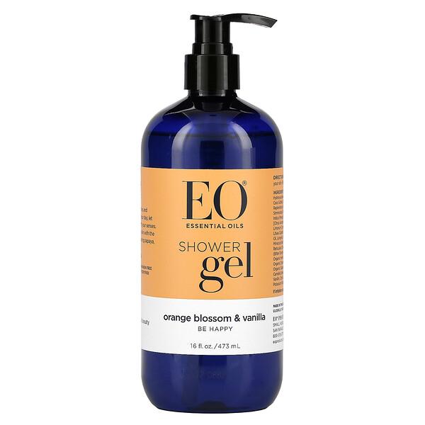 Shower Gel, Orange Blossom & Vanilla, 16 fl oz (473 ml)