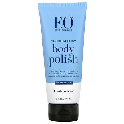 EO Products Body Polish, French Lavender, 6 fl oz (177 ml)