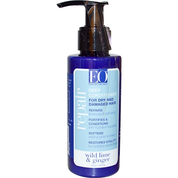 EO Products, Repair, Deep Conditioner, Wild Lime & Ginger, 4 fl oz (120 ml) (Discontinued Item)