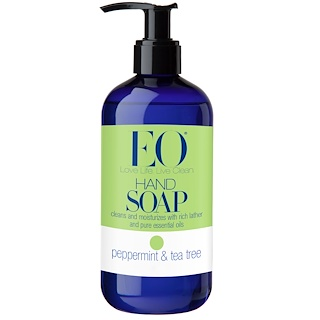 EO Products, Hand Soap, Peppermint & Tea Tree, 12 fl oz (355 ml)