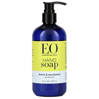 EO Products, Jabón de manos líquido, limón y eucalipto, 12 fl oz (360 ml)