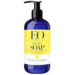 EO Products, Hand Soap, Lemon & Eucalyptus, 12 fl oz (355 ml)