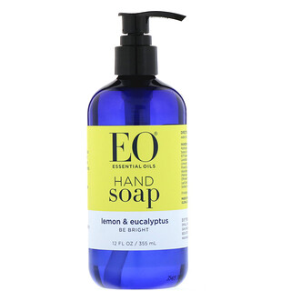 EO Products, صابون لليدين، ليمون وكينا، 12 أونصة سائلة (355 مل)