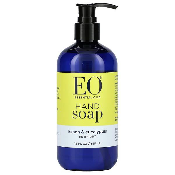 Jabón de manos líquido, limón y eucalipto, 12 fl oz (360 ml)