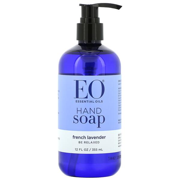 EO Products, صابون لليدين، الخزامى الفرنسي، 12 أونصة سائلة (355 مل)