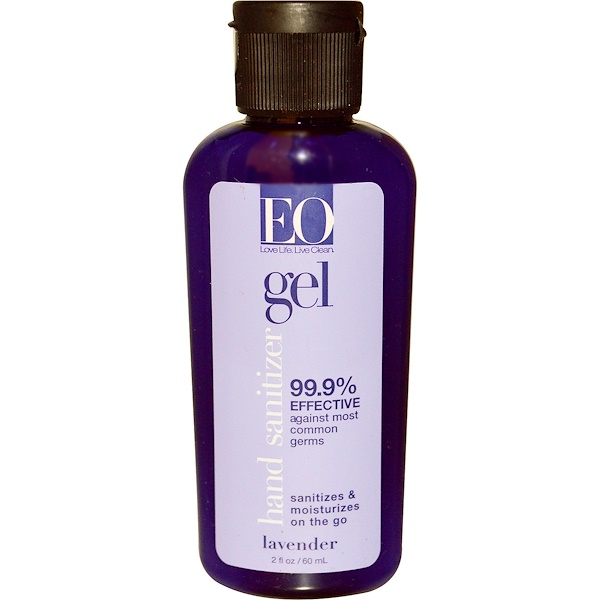EO Products, Hand Sanitizer, Lavender, 2 fl oz (60 ml) (Discontinued Item)
