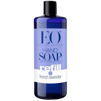 Купить EO Products Мыло для рук, запасной блок, французская лаванда, 32 жидкие унции (960 мл)