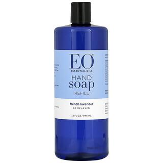 EO Products, Jabón de manos, repuesto, lavanda francesa, 946 ml (32 fl oz)