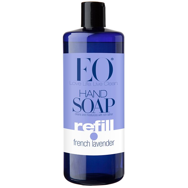 EO Products, Hand Soap, Refill, French Lavender, 32 fl oz (946 ml) (Discontinued Item)