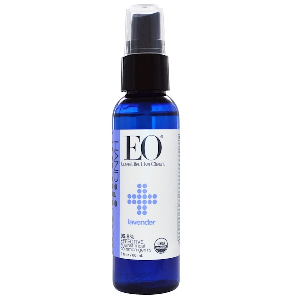 EO Products, Organic Hand Sanitizer Spray, Lavender, 2 fl oz (60 ml) (Discontinued Item)