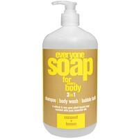Мыло 3в1 для всего тела: шампунь, гель для душа и пена для ванны с ароматом кокоса и лимона, 960 мл - фото
