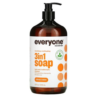 Everyone 3 In 1 Soap, Citrus + Mint, 32 fl oz (946 ml)