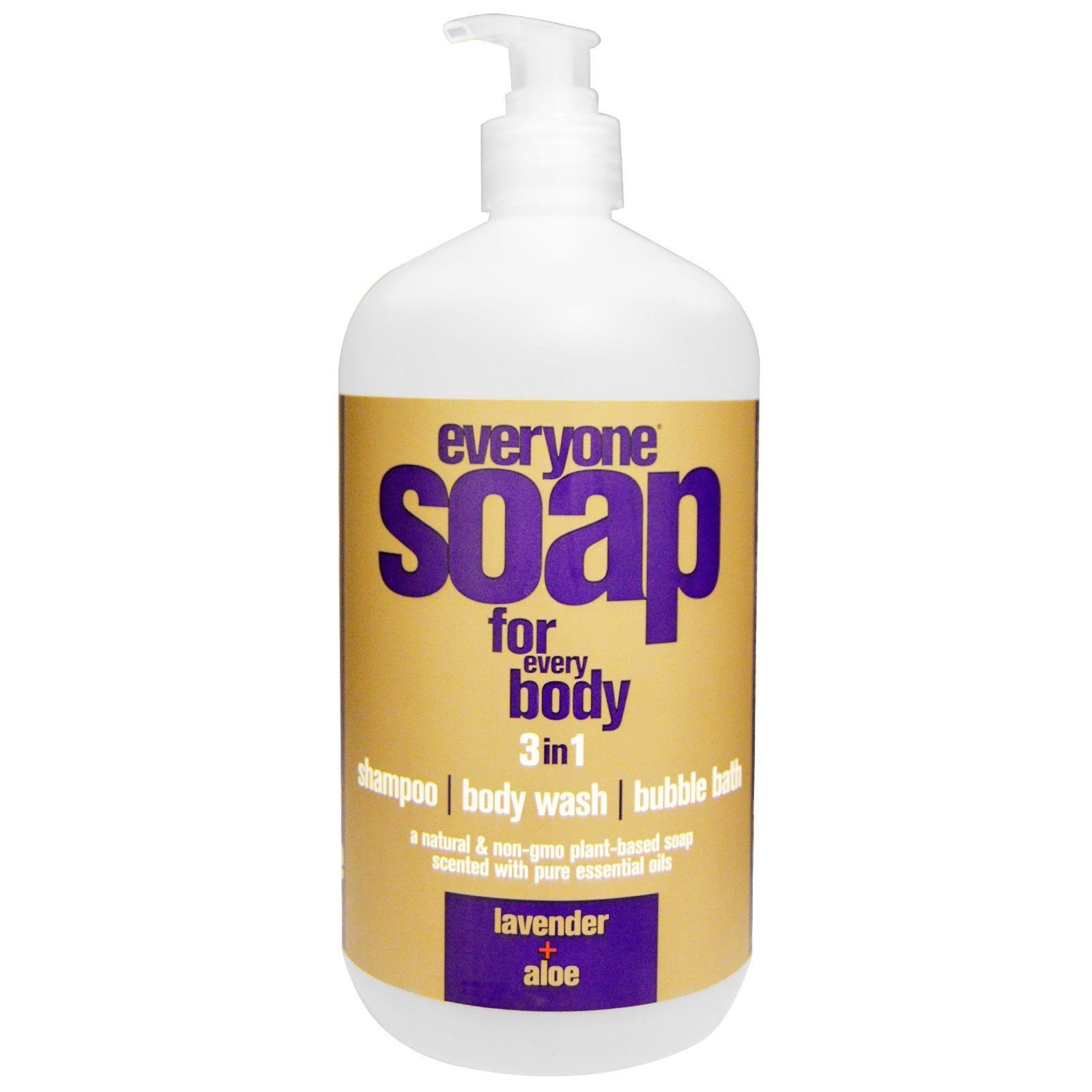 EO Products, Мыло 3 в 1 для всего тела: шампунь, гель для душа и пена для ванны с лавандой и алоэ, 960 мл