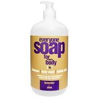 Мыло 3 в 1 для всего тела: шампунь, гель для душа и пена для ванны с лавандой и алоэ, 960 мл - фото