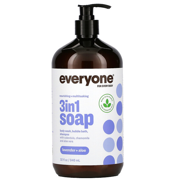 Everyone for Every Body, 3 in 1 Soap, Lavender + Aloe, 32 fl oz (946 ml)