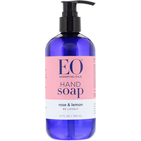 EO Products, Hand Soap, Rose & Lemon, 12 fl oz (355 ml)